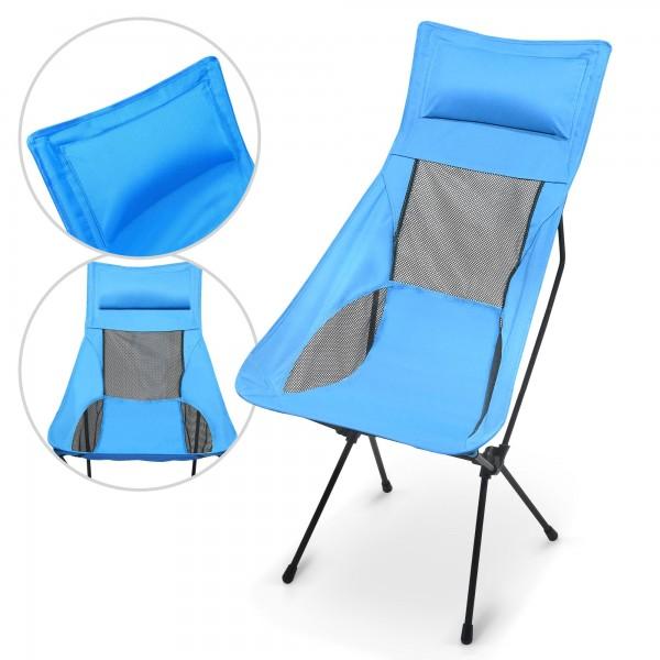 Židle kempingová skládací 58 x 105 x 35 cm s