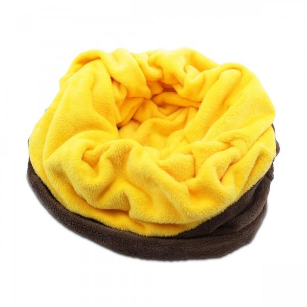 Psí deka 3 v 1 XXL hnědá / žlutá deka pro psa