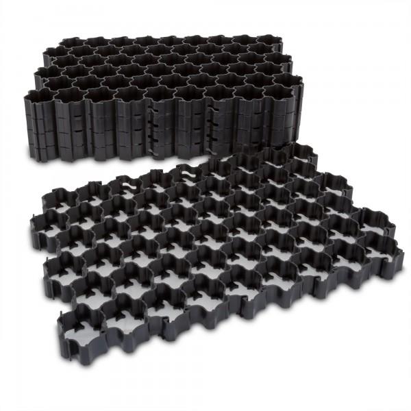 Zatravňovací tvárnice plastová 1.1m² černá