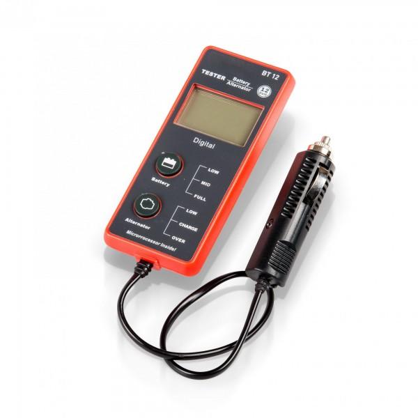 Tester autobaterie a alternátoru, digitální 2 funkce Extol Premium 8897310