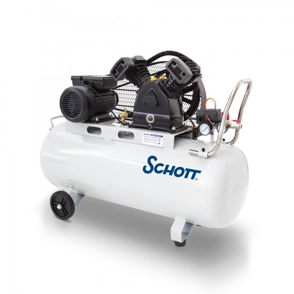 Kompresor 100 litrů 2200 W dvouválcový 336 L/min