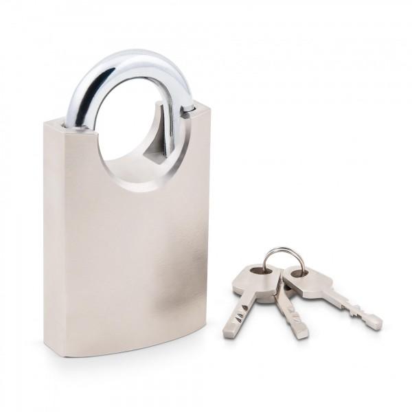 Visací zámek s ochranou třmenu 60 mm, ocelový včetně 3 klíčů