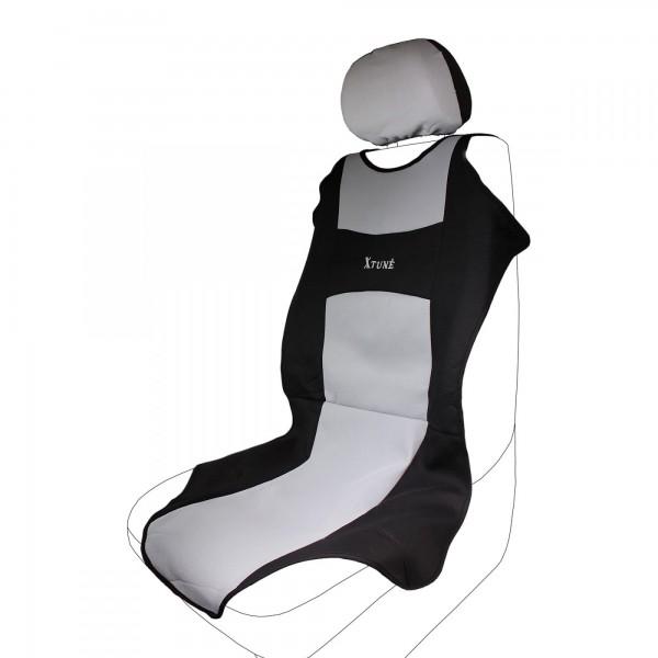Autopotah na sedadlo TRIKO 2x na přední sedadlo - šedá/černá