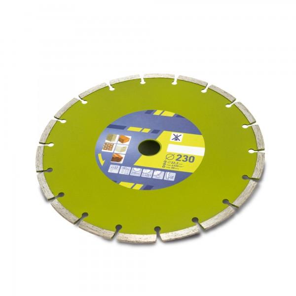 Kotouč diamantový řezný segmentový, 230x22,2mm, suché řezání, EXTOL CRAFT
