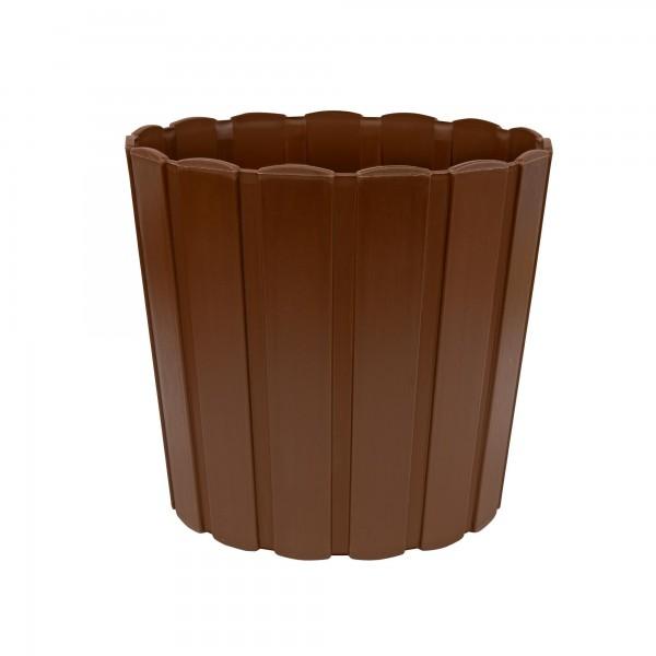 Plastový květináč 239 mm - hnědý PROSPERPLAST BOARDEE BASIC DDE240