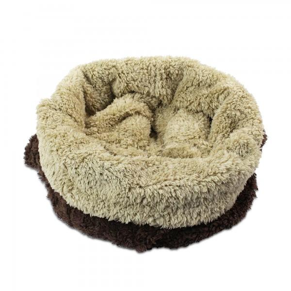 3 v 1 deka pro psy, spací pytel 3 v 1 De Luxe hnědá, flís