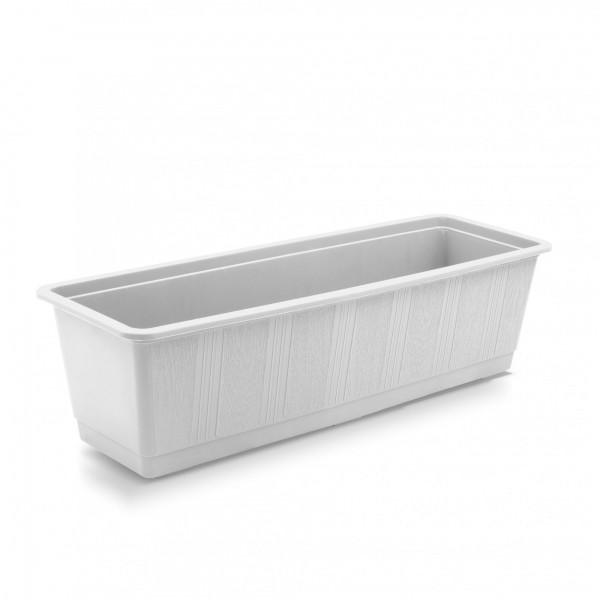 Plastový truhlík klasický 500 x 175 x 145 mm bílý