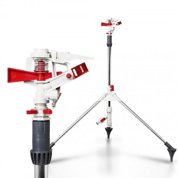 Impulsní zavlažovač se stojanem do m² - RED LINE