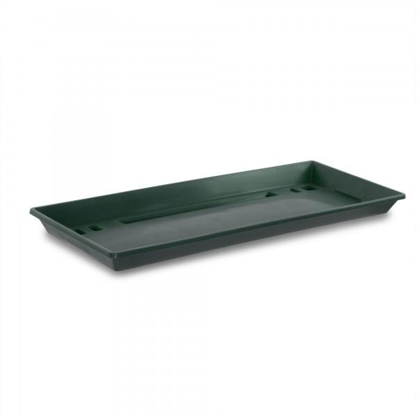 Plastová miska pod truhlík 40 cm tmavě zelená