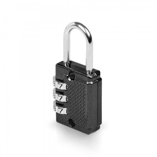 Visací zámek číselný 3-místný kód - 26 x 55 mm - černý