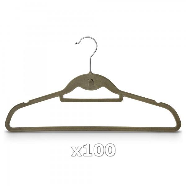 Ramínko na oděvy velurové 100 kusů sametové