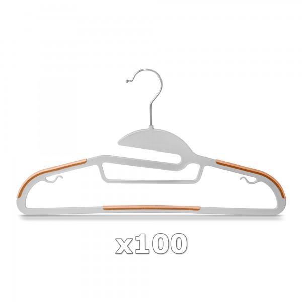 Plastové ramínko na oděvy oranžové 100 ks