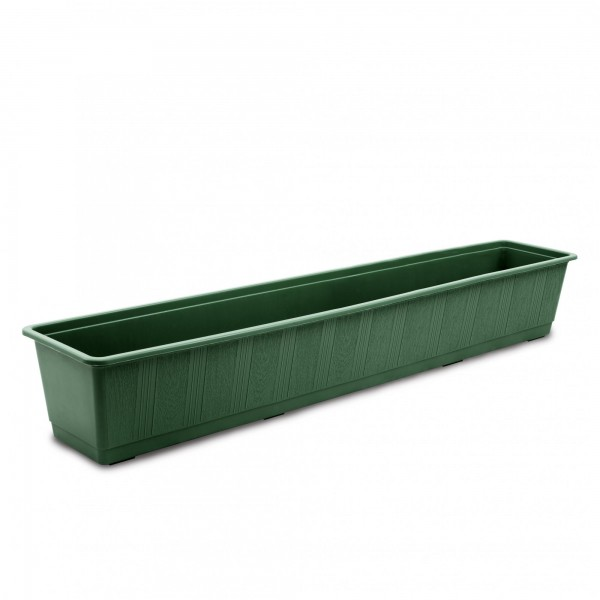 Plastový truhlík klasický 1000 x 175 x 145 mm zelený