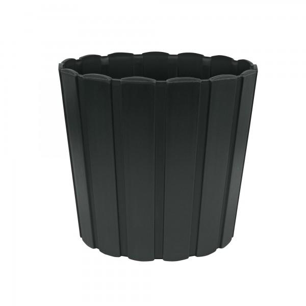 Plastový květináč 165 mm - antracit PROSPERPLAST BOARDEE BASIC DDE170