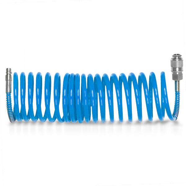 5 m hadice vzduchová spirálová 6 mm s rychlospojkami