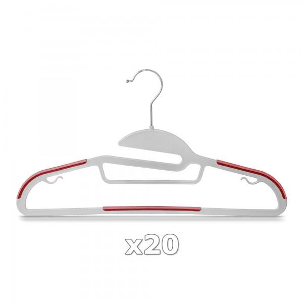 Plastové ramínko na oděvy červené 20 ks