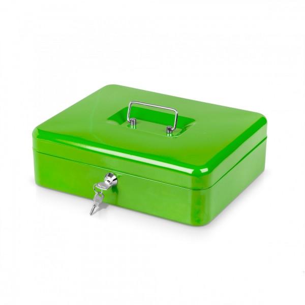 Schránka na peníze zelená + 2 klíčky - 30 x 24 x 9 cm