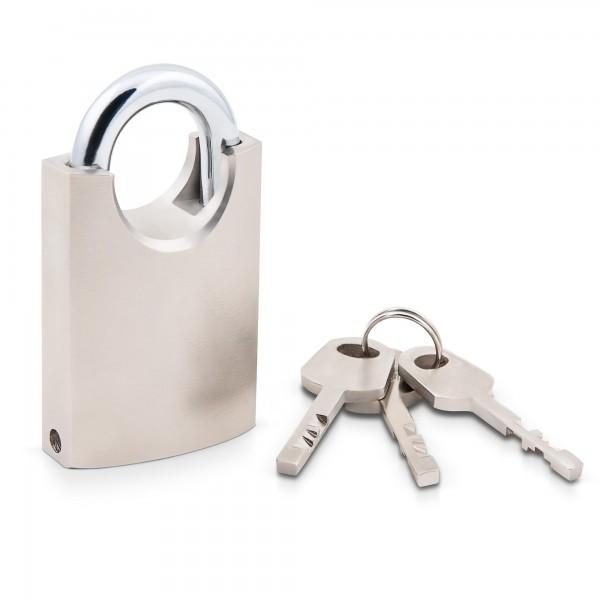 Visací zámek s ochranou třmenu 40 mm, ocelový včetně 3 klíčů