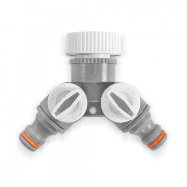 """2-cestný ventil s přípojkou pro kohoutek s redukcí 3/4"""""""