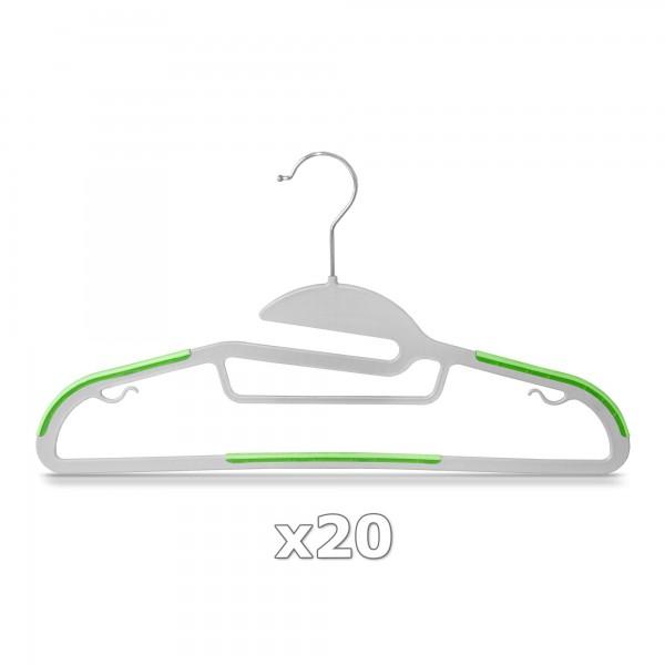 Plastové ramínko na oděvy zelené 20 ks