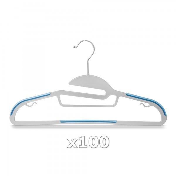 Plastové ramínko na oděvy světle modré 100 ks