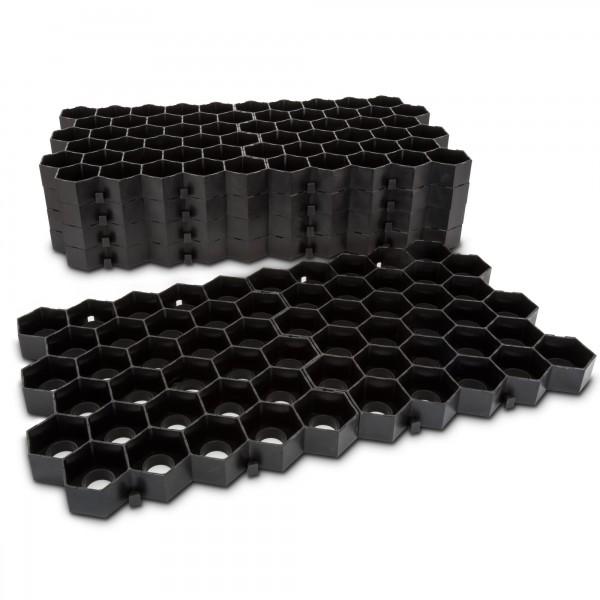 1m² zatravňovací dlažba plástev Honey černá - 33 x 33 x 3,5 cm