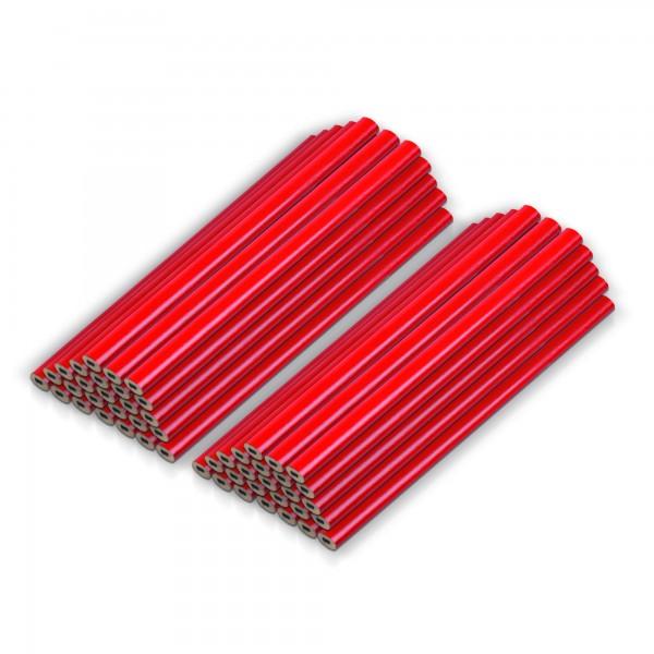 Tesařské tužky 175 mm - 50 ks - červené