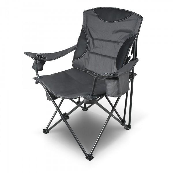 Židle kempingová skládací MERIT XXL 101 cm s opěradlem a sedákem