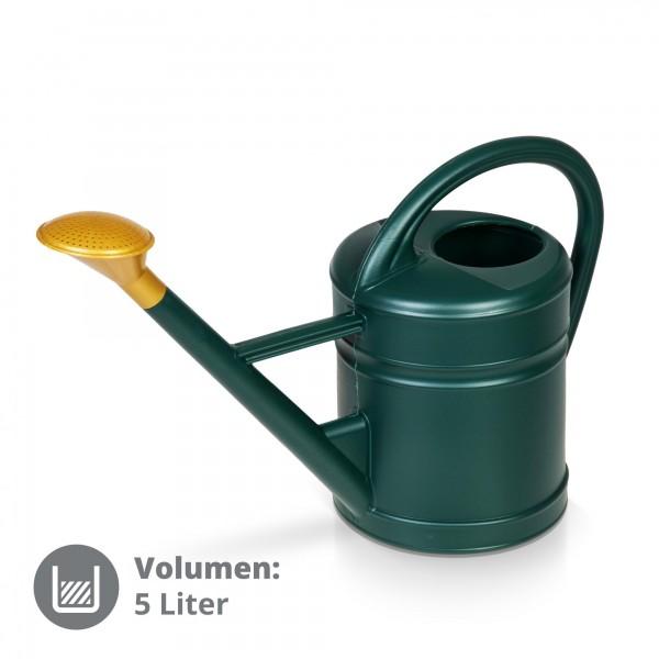 Plastová zalévací konev 5 L Antik zelená