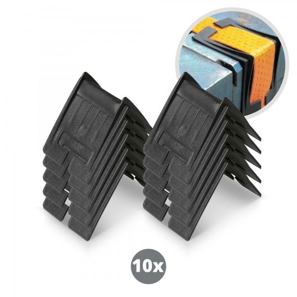 10 x plastové ochranné rohy pro popruhy ochranný plastový roh