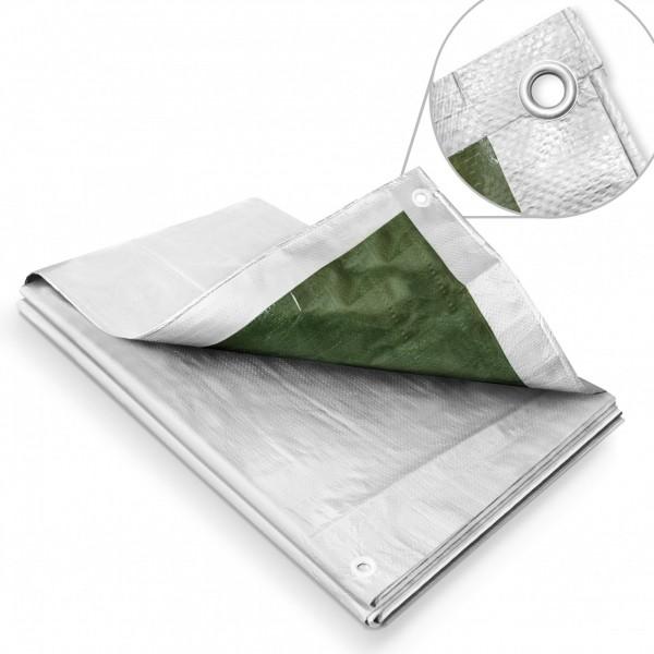 Zakrývací plachta 5x8m – 120 g stříbrná Bradas Festa PL1205/8 krycí plachta 5 x