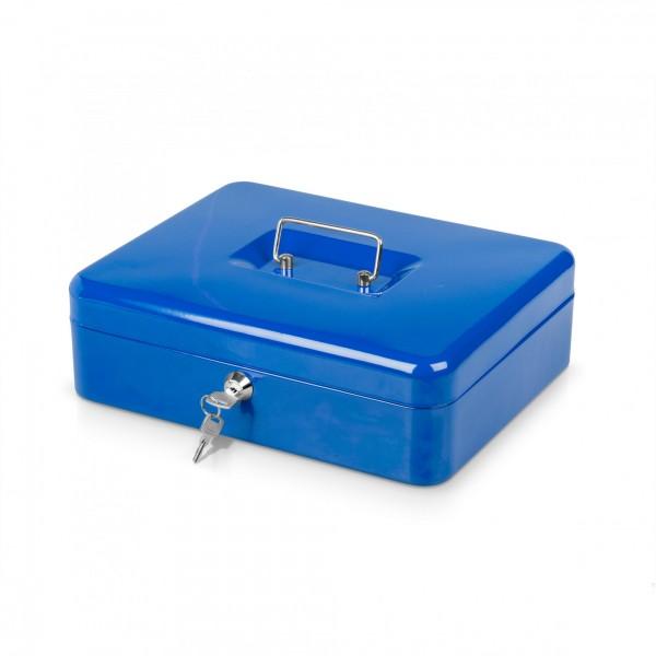 Schránka na peníze modrá + 2 klíčky - 30 x 24 x 9 cm