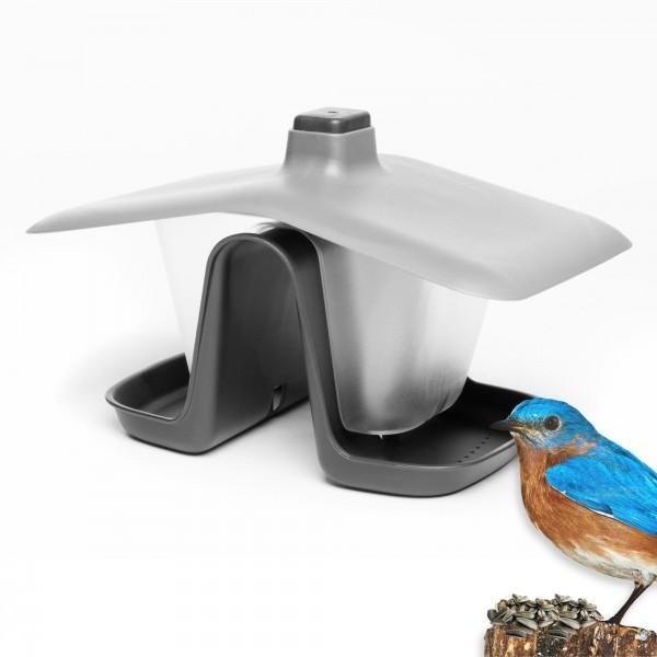 Krmítko pro ptáky dvoukomorové, antracitové, Prosperplast Birdyfeed Double