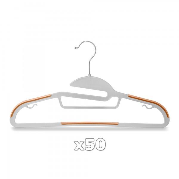Plastové ramínko na oděvy oranžové 50 ks
