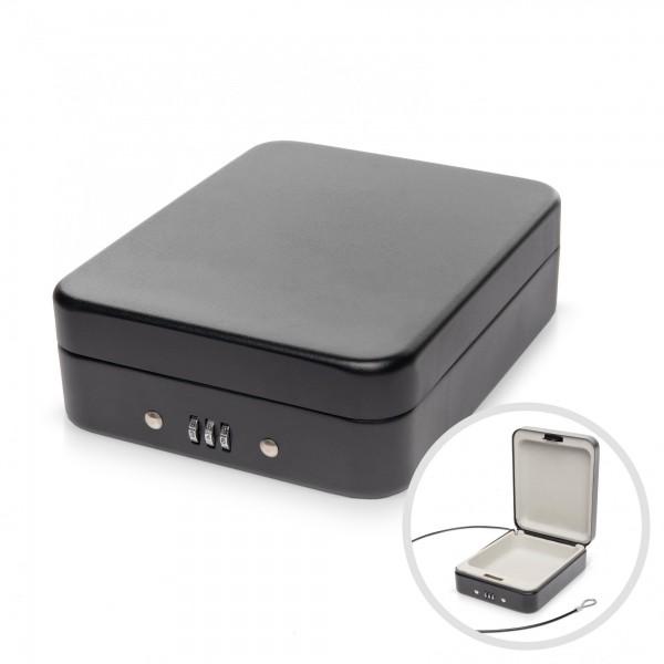 Ocelový box s 3místný číselný zámek - 20 x 16 x 6 cm bezpečnostní schránka