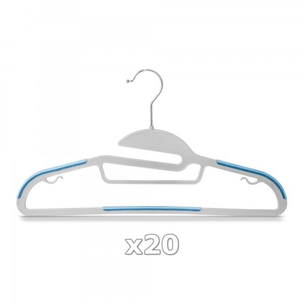 Plastové ramínko na oděvy světle modré 20 ks