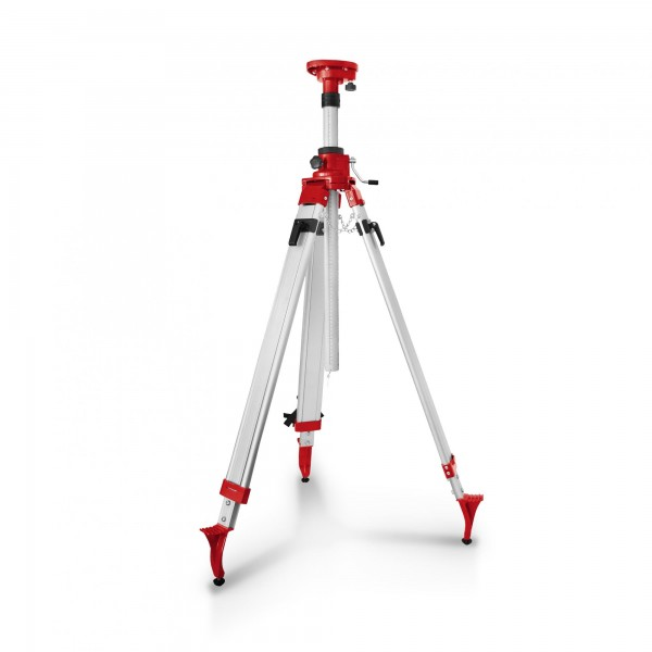 Teleskopický nivelační stativ k rotačnímu laseru s klikový 1,20 - 2,40 m
