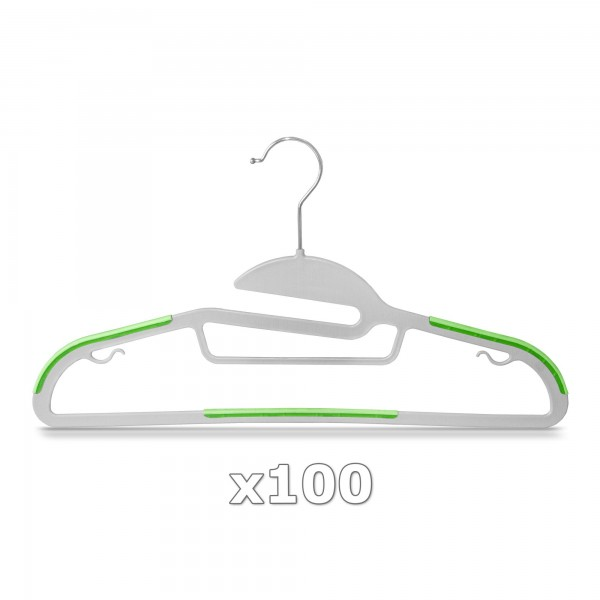 Plastové ramínko na oděvy zelené 100 ks