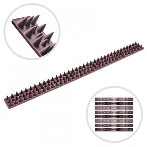Ostnaté pásy 8 ks proti přelézání zdí, plotu, brán - 490 mm