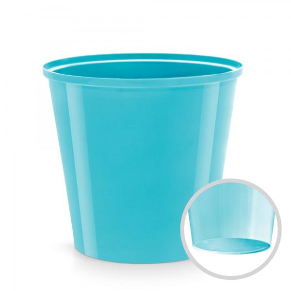 Plastový květináč - světle modrý - průměr 130 mm - kulatý