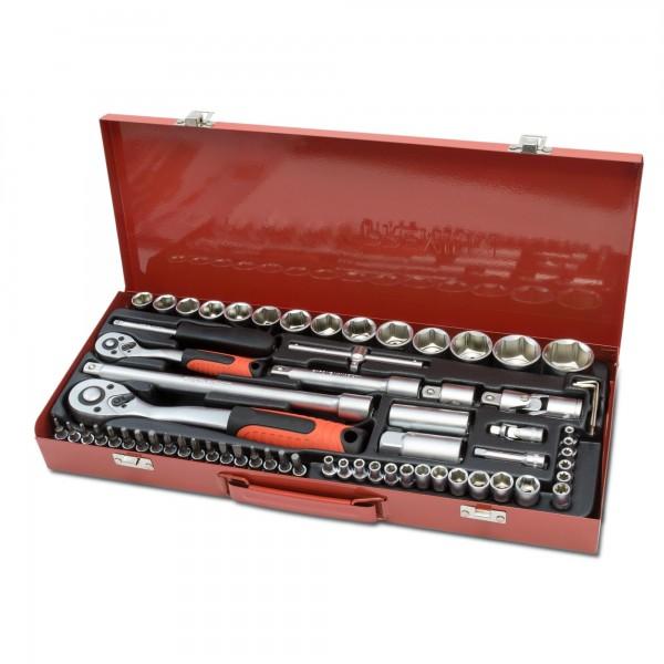 65-dílná sada nástrčných klíčů včetně 2 ráčen