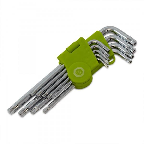 9-ti dílná sada klíčů Torx - vel. T10 - T50