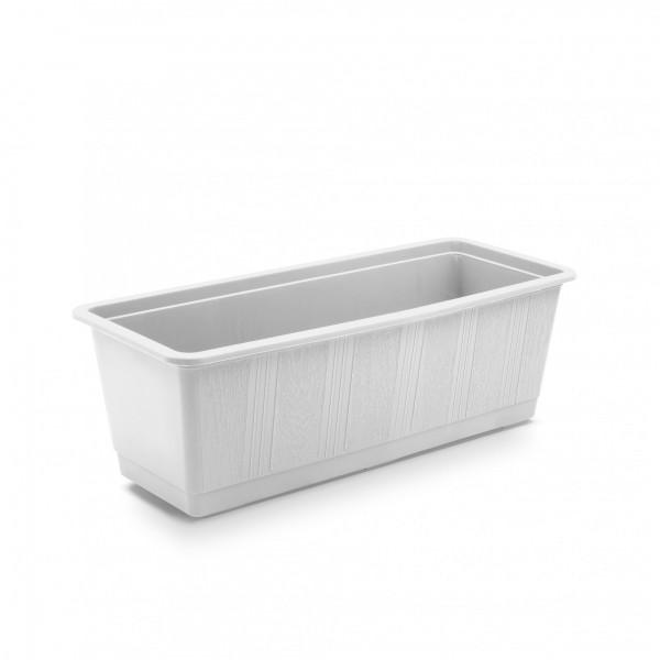 Plastový truhlík klasický 400 x 175 x 145 mm bílý