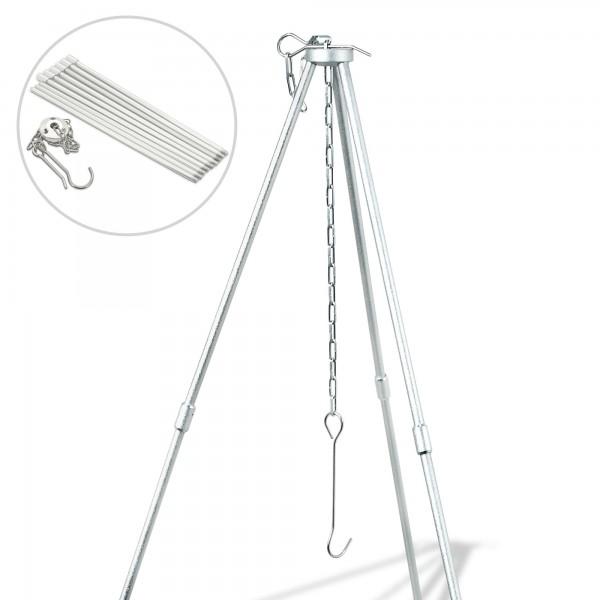 Trojnožka skládací 86 cm včetně háku a řetězu