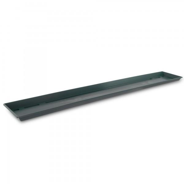 Miska pod truhlík tmavě zelená 100 cm