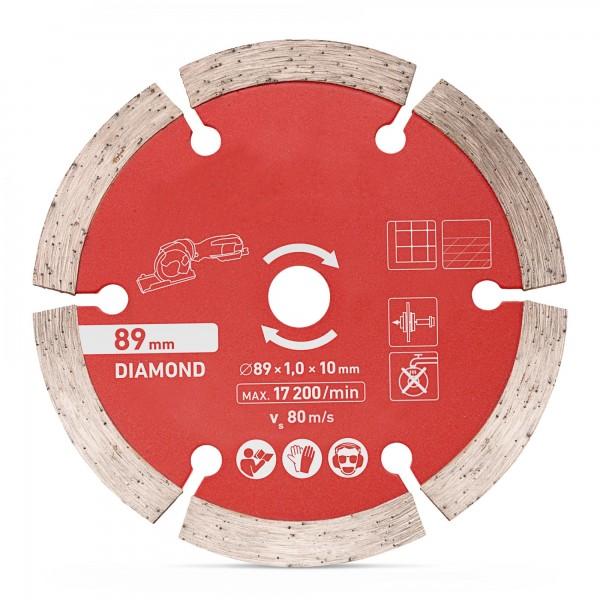 Kotouč diamantový, řezný ⌀ 89 x 1,0 x 10 mm