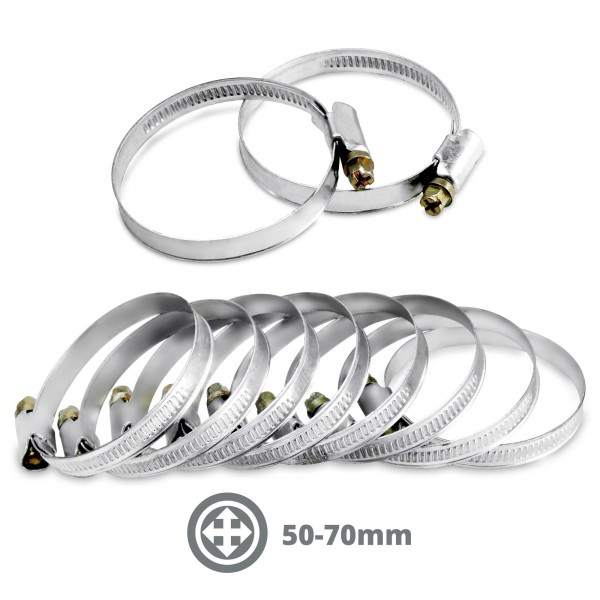Hadicová spona 50-70 mm nerez 10 ks