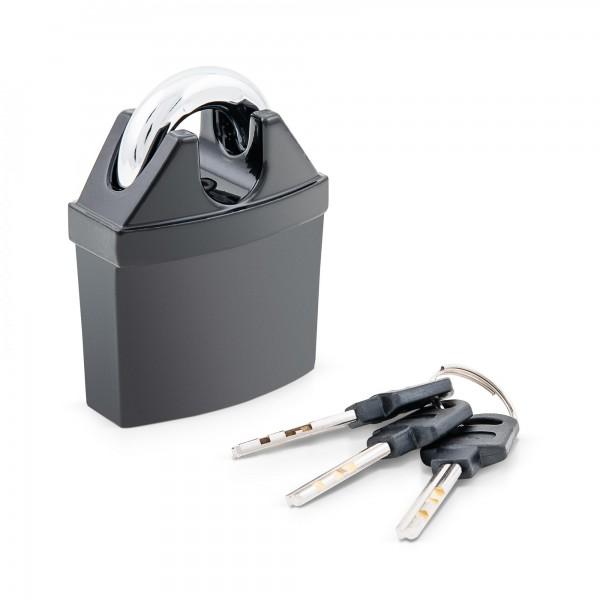 Visací zámek s ochranou třmenu 50 mm, mosaz, hliník včetně 3 klíčů
