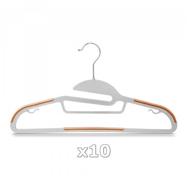 Plastové ramínko na oděvy oranžové 10 ks