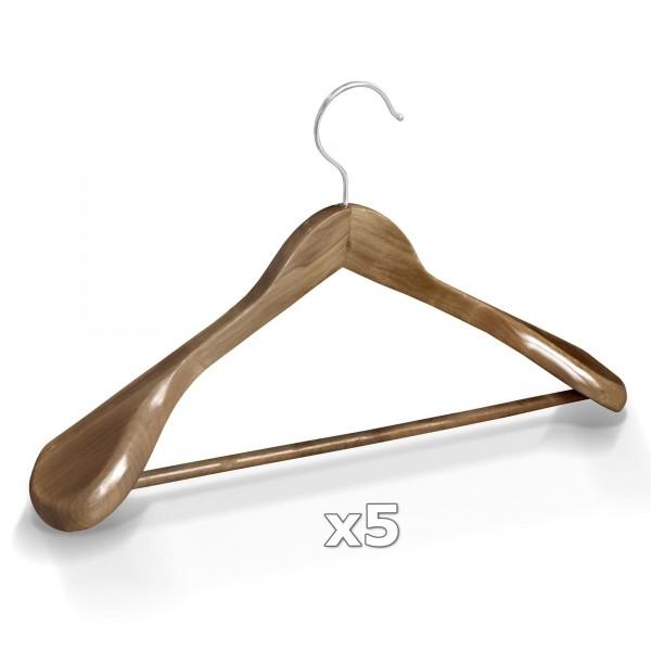 Dřevěné ramínko na oděvy šaty antické 5ks